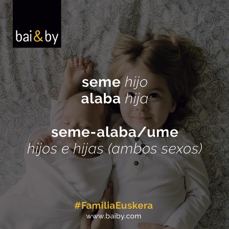 Vocabulario de familia en euskera